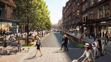 Regeneration plans: How Bothwell Street could be transformed.