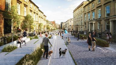 New look: An impression of West George Street.