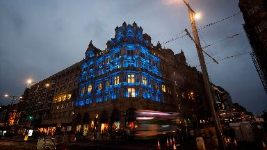 Iconic: The Jenners building in Edinburgh.