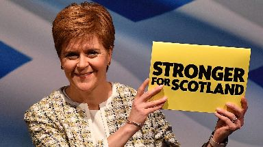 SNP: Support for independence at 50%, according to STV poll.