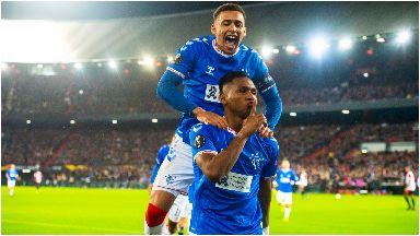 Double: Morelos was again Rangers' hero in Europe.