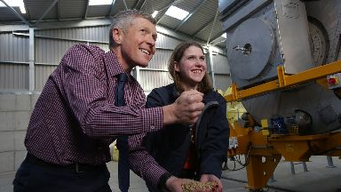 Rennie: Campaigning with Jo Swinson earlier this month.