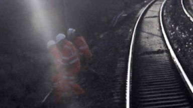 CCTV from the Virgin Train shows the workers fleeing.
