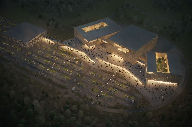 The plans include conference, retail and leisure space, a cinema and two hotels, as well as an indoor arena.