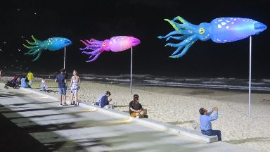 Illumination: The works of art will appear throughout Aberdeen.