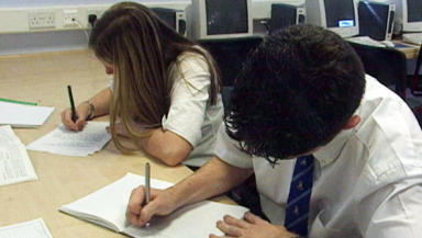 Pupils: A third of secondary pupils struggle with maths.