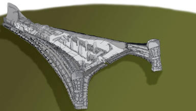 Cairn Site: Artistic depiction of how Neolithic site will look.