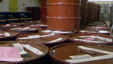 Waste Drums: Dounreay will engage in 'waste substitution'.