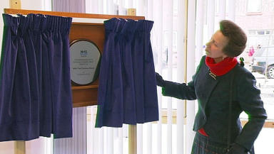 Princess Royal: Unveils plaque to mark major transformation.