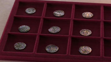 Treasure Trove: Mike Aitken discovers 27 ancient coins.