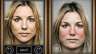 Hard lines: App shows the effects of drink over 10 years.