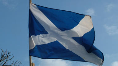 Flag: The film showcases 715 images with a saltire in the centre.