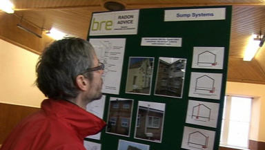 Radon: Orkney residents attend a public exhibition.