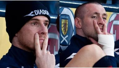 Barry Ferguson, left, and Allan McGregor were involved in an infamous incident at the hotel.