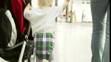 Trendy toddlers model real tartan nappies