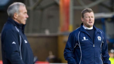 Out with the old: Gordon Chisholm (right)  has taken over from Jocky Scott (left) as Dundee manager.