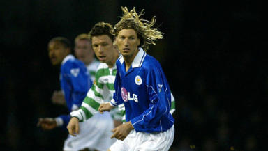 Savaged: Robbie Savage faced Celtic in a 2002 friendly in his Leicester City days.