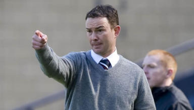 Shock troops: Derek Adams has pointed his unfancied Ross County team to the Scottish Cup final.