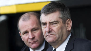 Grim decision: Stewart Gilmour (right) has had a pop at the SPL's fixture planning for disadvantaging his team.