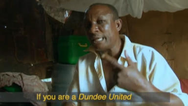 Unexpected: Dundee United's name popped up in a documentary into life in Nigeria but for bizzare reasons.