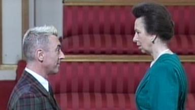 Alan Cumming receives OBE at Buckingham Palace