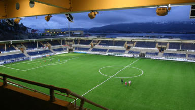 Aalesunds FK's Color Line Stadium and its artificial pitch could play host to Motherwell in the Europa League.