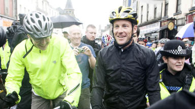 Lance Armstrong was all smiles when he made a visit to Scotland in 2009 but, a year on, his integrity is under threat.