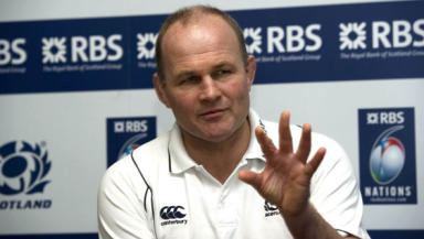 Task in hand: Andy Robinson is confident his improving Scotland side can mark their progress against New Zealand.