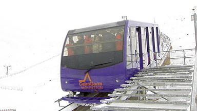 Closed: CairnGorm Mountain's funicular is out of action.