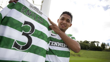 Ready for action: Emilio Izaguirre is training hard for his SPL debut