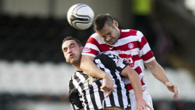 Heads up: Hamilton and SPL strugglers St Mirren played out an entertaining fixture in Paisley.