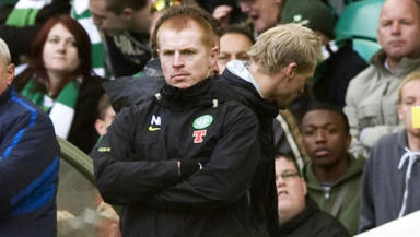 First defeat: lennon saw his Celtic side lose in the SPL for the first time.