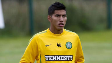 Staying positive: Adrian Ruelas has been giving his all in training as he tries to win a permanent deal with Celtic.