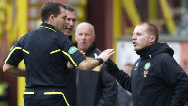 Dougie McDonald's handling of an angry Neil Lennon was praised but the referee received a below average mark.