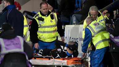 Marcus Haber was stretchered off in St Johnstone's loss to Kilmarnock and will now miss the rest of the season.