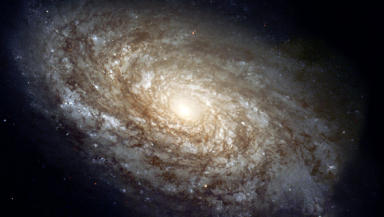 The NGC 4414 galaxy as pictured by the Hubble Space Telescope