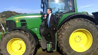 Grass Planting: Donald Trump Jnr began work last year