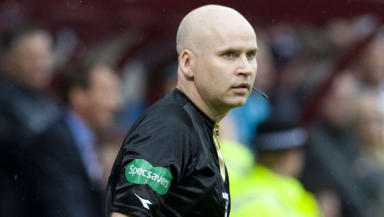 Assistant referee Martin Cryans is the head of the Scottish Senior Football Referees' Association.