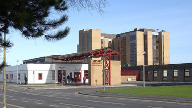 Raigmore Hospital: Four wards were closed.