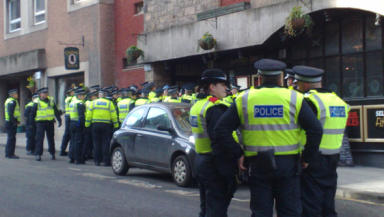 SDL: One man pled guilty to causing a breach of the peace on the Royal Mile.