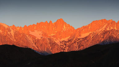 Breathtaking: sunrise at Mount Whitney
