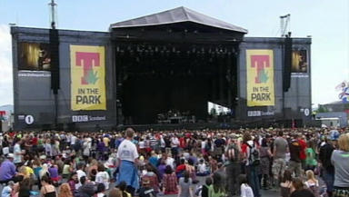 T in the Park: Scotland's biggest music festival.