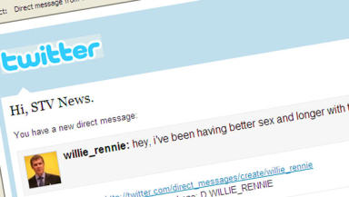 Hacked: The message was sent to around 4,000 people in Mr Rennie's name.