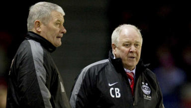 Craig Brown (right) will have to look elsewhere to add to his options in midfield, after missing out on Stefan Gislason.