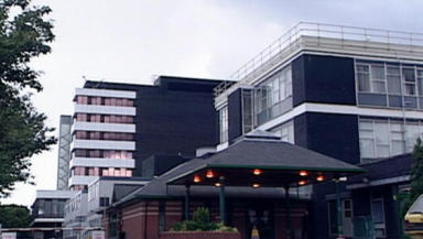 Yorkhill Hospital: Victim being treated.