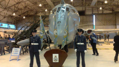 Farewell ceremony: Nimrod MR2 at Kinloss