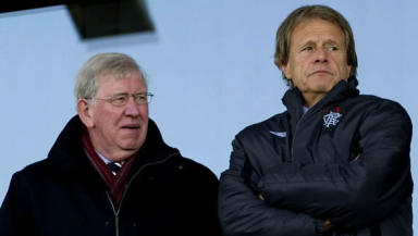 John Greig and Alastair Johnston (right) were both members of the sub-committee set up to oversee Rangers' takeover.