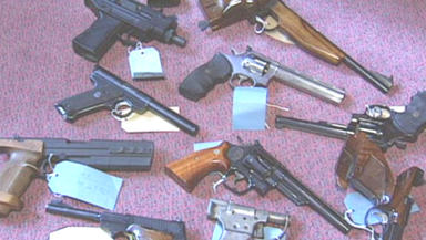 100 weapons were confiscated (file pic)