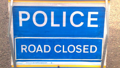 Road closed: Police appealed for witnesses to come forward.