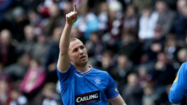 Kenny Miller: The Rangers star in action